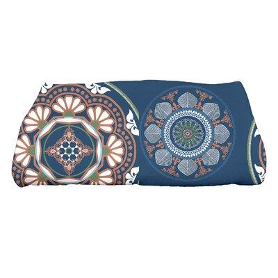 HH Revival Medallions Floral Print Bath Towel Color: Blue