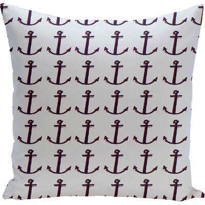 Decorative Anchor Throw Pillow Size: 16 H x 16 W, Color: Carolina