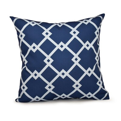 Trellis Throw Pillow Size: 18 H x 18 W, Color: Navy Blue