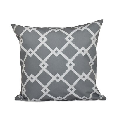 Trellis Decorative Polyester Throw Pillow Size: 20 H x 20 W, Color: Grey