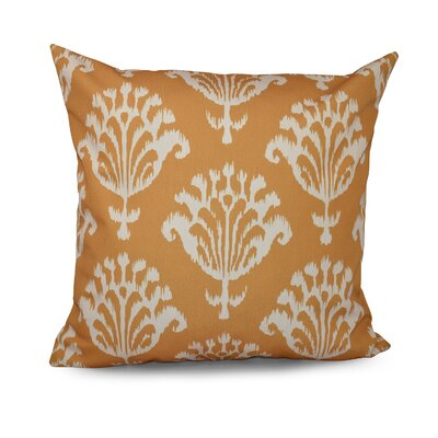 Floral Motifs Decorative Down Throw Pillow Size: 18 H x 18 W, Color: Gold