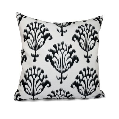 Floral Motifs Decorative Down Throw Pillow Size: 16 H x 16 W, Color: White