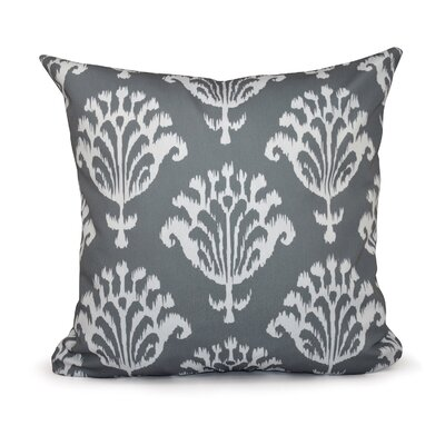 Floral Motifs Decorative Down Throw Pillow Size: 20 H x 20 W, Color: Grey