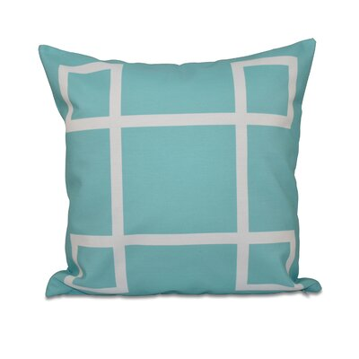 Geometric Down Throw Pillow Size: 18 H x 18 W, Color: Bahama