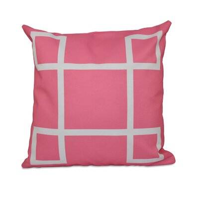 Geometric Down Throw Pillow Size: 26 H x 26 W, Color: Petal