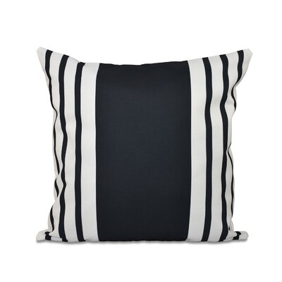 Big and Bold Stripe Down Euro Pillow Color: Black