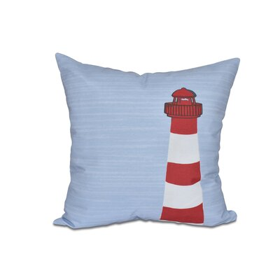 Lewiston Light House Geometric Outdoor Throw Pillow