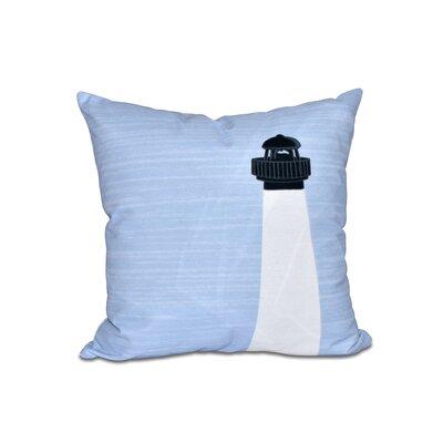 Peletier Light House Geometric Outdoor Throw Pillow