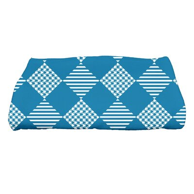 Jump for Joy Check It Twice Bath Towel Color: Teal
