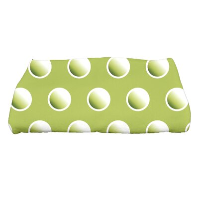 Jump for Joy Dip Dye Dots Bath Towel Color: Green