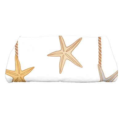 Coastal Christmas Starfish Ornaments Bath Towel Color: Gold
