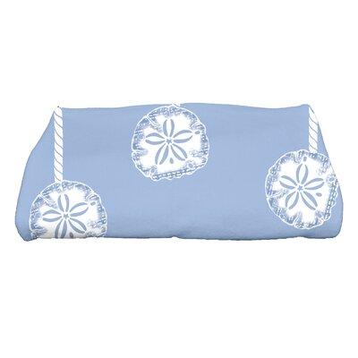 Coastal Christmas Sanddollar Ornaments Bath Towel Color: Blue