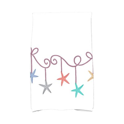 Coastal Christmas Starfish Ornaments Hand Towel Color: Purple