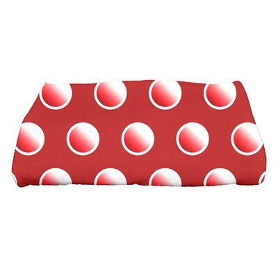 Jump for Joy Dip Dye Dots Bath Towel Color: Red