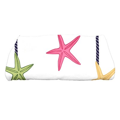 Coastal Christmas Starfish Ornaments Bath Towel Color: Blue