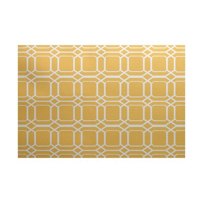 Golden Gate Geometric Yellow Indoor/Outdoor Area Rug Rug Size: 4 x 6