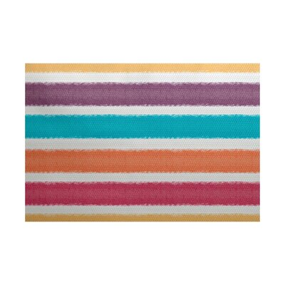 Golden Gate Purple/Orange/Blue Indoor/Outdoor Area Rug Rug Size: 5 x 7