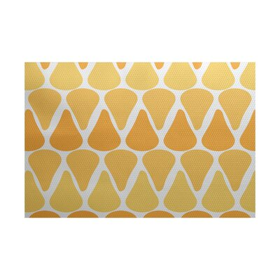 Golden Gate Yellow Indoor/Outdoor Area Rug Rug Size: 2 x 3