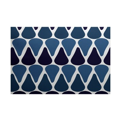 Golden Gate Coastal Geometric Blue Indoor/Outdoor Area Rug Rug Size: 2 x 3