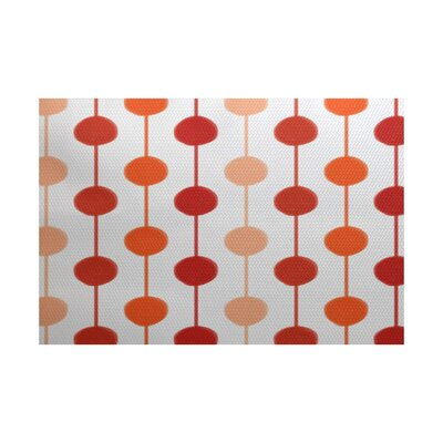 Leal Orange/White Indoor/Outdoor Area Rug Rug Size: 5 x 7