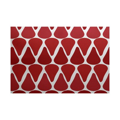 Golden Gate Red Indoor/Outdoor Area Rug Rug Size: 2 x 3