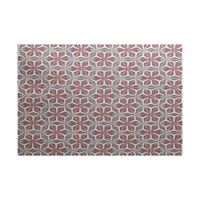 Viet Red/Green Indoor/Outdoor Area Rug Rug Size: 4 x 6