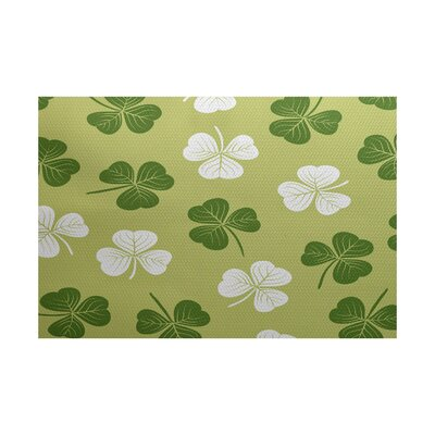 Funky Junky Green/White Area Rug Rug Size: 5' x 7'