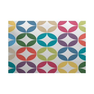 Francisco Blue/Green Indoor/Outdoor Area Rug Rug Size: 4 x 6