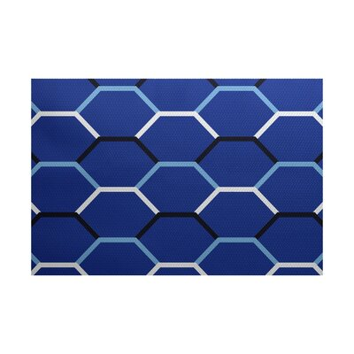 Golden Gate Coastal Blue Indoor/Outdoor Area Rug Rug Size: 3 x 5