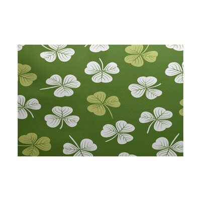 Funky Junky Green/White Area Rug Rug Size: 2 x 3