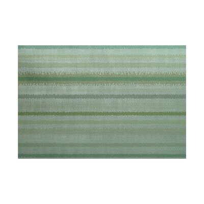 Dorazio Green Indoor/Outdoor Area Rug Rug Size: 2 x 3