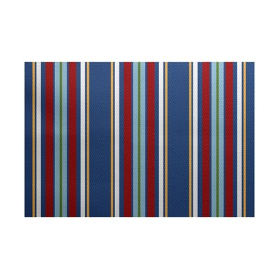 Petersfield Blue/Red Area Rug Rug Size: 5 x 7