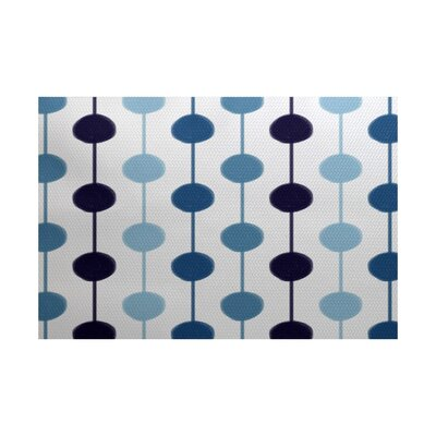 Leal Geometric Blue/White Indoor/Outdoor Area Rug Rug Size: 2 x 3