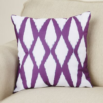 Geometric Decorative Hypo Allergenic Throw Pillow Size: 18 H x 18 W, Color: Purple