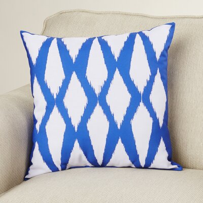 Geometric Decorative Hypo Allergenic Throw Pillow Size: 20 H x 20 W, Color: Dazzling Blue