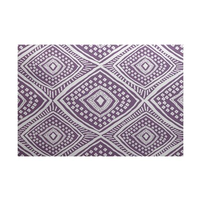 Abbie Purple/White Indoor/Outdoor Area Rug Rug Size: 2 x 3
