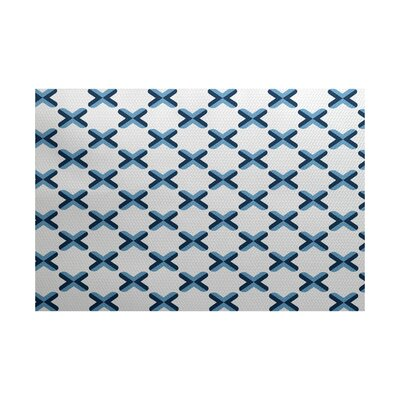 Abbie Geometric Blue Indoor/Outdoor Area Rug Rug Size: 5 x 7