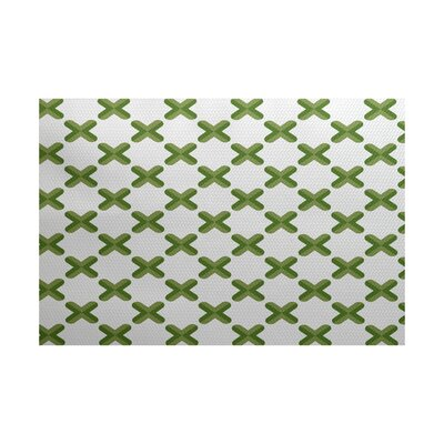 Abbie Green Indoor/Outdoor Area Rug Rug Size: 3 x 5