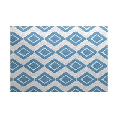 Abbie Diamond Blue Indoor/Outdoor Area Rug Rug Size: 2 x 3