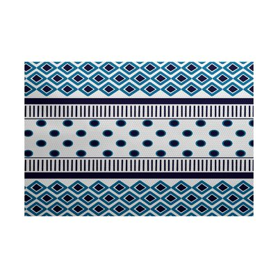 Abbie Blue Indoor/Outdoor Area Rug Rug Size: 2 x 3