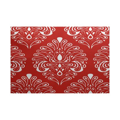 Selina Red Indoor/Outdoor Area Rug Rug Size: 2 x 3