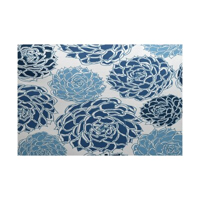 Neville Blue Indoor/Outdoor Area Rug Rug Size: 3 x 5