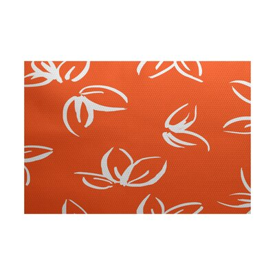 Neville Orange Indoor/Outdoor Area Rug Rug Size: 5 x 7