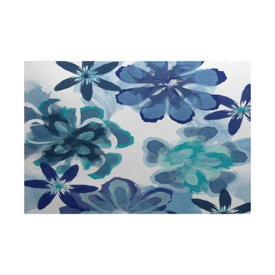 Neville Blue Indoor/Outdoor Area Rug Rug Size: Rectangle 2 x 3