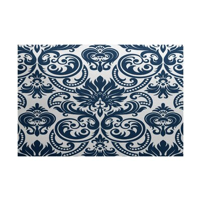 Hazlewood Blue Indoor/Outdoor Area Rug Rug Size: 2 x 3