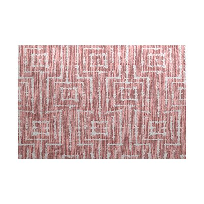 Thirlby Red Indoor/Outdoor Area Rug Rug Size: 2 x 3