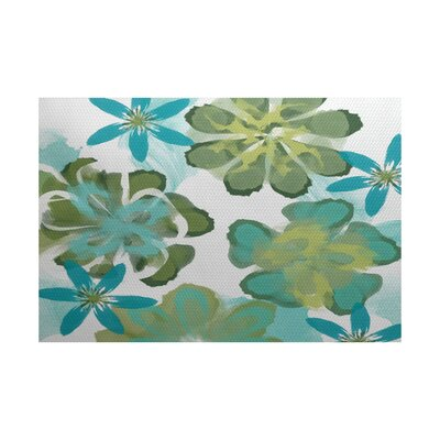 Neville Green Indoor/Outdoor Area Rug Rug Size: 5 x 7