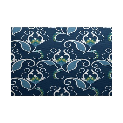Selina Blue Indoor/Outdoor Area Rug Rug Size: 3 x 5