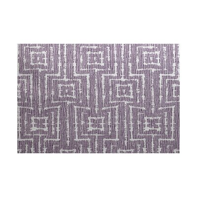 Costigan Purple Indoor/Outdoor Area Rug Rug Size: 5 x 7