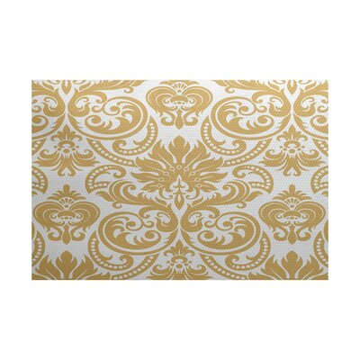 Hazlewood Yellow Indoor/Outdoor Area Rug Rug Size: 4 x 6